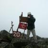 Поход на Конжаковский камень, ноябрь 2007 года. У знака