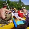 Сплав по реке Серга, июль 2005. Разморило