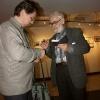 """Презентация фильма """"По следам Михаила Заплатина"""", февраль 2007 года. Обмен визитками"""