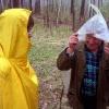 Старательское дело - золотодобыча, май 2005 года. Разговор под дождём