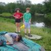 Сплав по реке Серга, июль 2007 года. Саша, Алёша и Тим