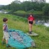 Сплав по реке Серга, июль 2007 года. Тимоша и Саша