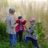 Сплав по реке Серга, июль 2005. Юные рыболовы