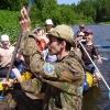 Сплав по реке Серга, июль 2005. Два экипажа