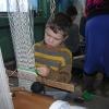 """""""Поход за ремёслами"""", январь 2005 года. Сосредоточенный Славчик"""