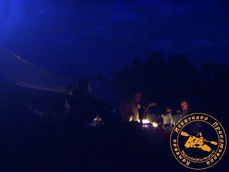 Сплав по реке Серга, июль 2004 года. Ночное небо