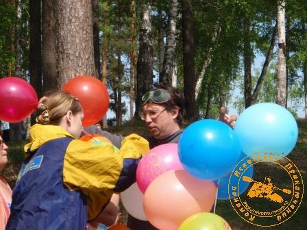 Игра с коллективом УЗХР на Дне химика, май 2008 года. Воздушные шары