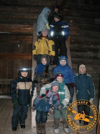"""""""Каждая поездка - путешествие"""" с коллективом ЦИТ, январь 2004 года. В амбаре"""