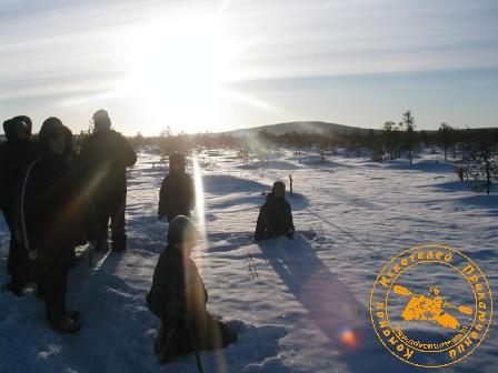 """""""Каждая поездка - путешествие"""" с коллективом ЦИТ, январь 2004 года. Денежкин Камень"""