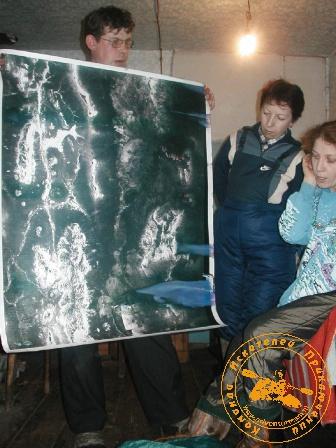 """""""Каждая поездка - путешествие"""" с коллективом ЦИТ, январь 2004 года. Карта заповедника"""