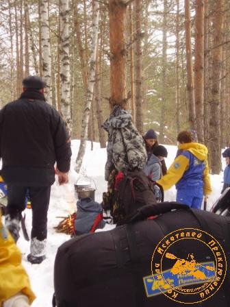 """Экспедиция """"Зимняя Сказка"""", февраль 2007 года. Установка лагеря"""