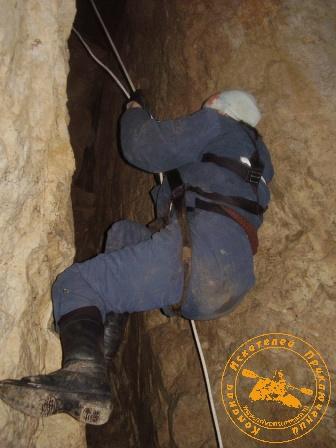 """Экспедиция """"Зимняя Сказка"""", февраль 2007 года. Лаз в пещере Сказ"""