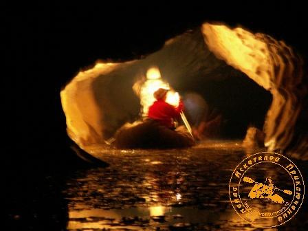"""Экспедиция """"Зимняя сказка"""", февраль 2006 года. Факелы над озером"""