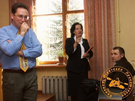 Вручение Сертификата тургруппы коллективу НГЧ-4. Ответное слово