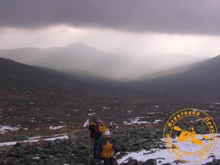 Поход на Конжаковский камень, ноябрь 2007 года. Подъём на плато