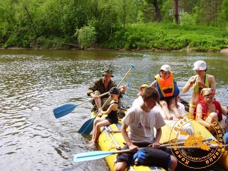 Сплав по реке Серга, июль 2005. На