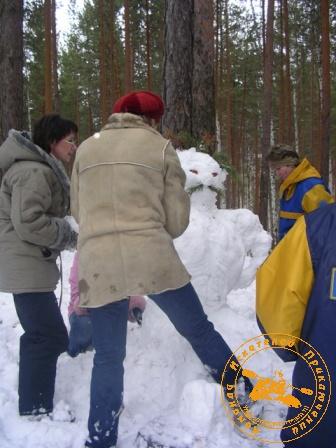 Праздник КИП - 23 февраля 2007. Девушки за работой