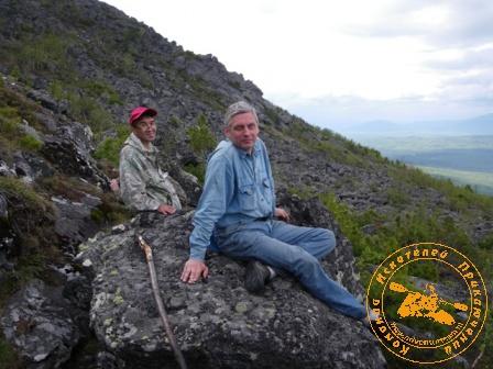 Поход на гору Кумба. Сергей Галин и Андрей Пузанов на гребне Кумбы