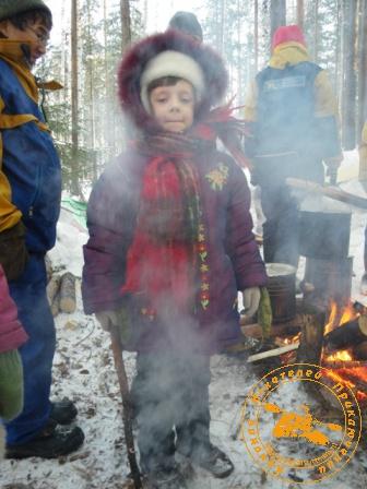 Детский праздник - январь 2010. Танюша в дыму