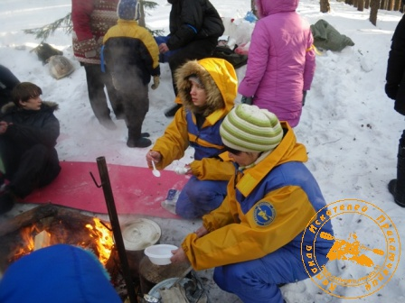 Детский праздник - январь 2010. Походный обед
