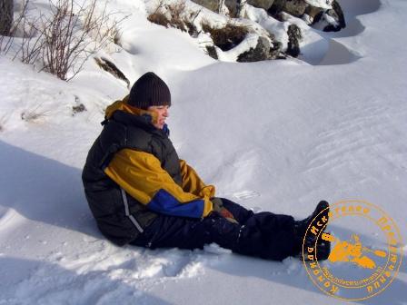 Лыжный поход на уральские писаницы. Февраль 2008 года