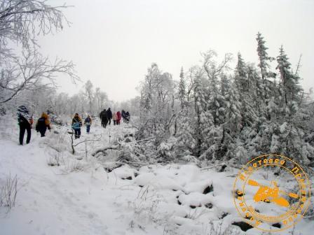 Поход на Конжаковский Камень с коллективом завода Оцм, ноябрь 2007 года. Путники