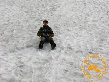 Июль 2006 года. Снежник на ГУХ