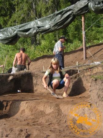 На раскопе