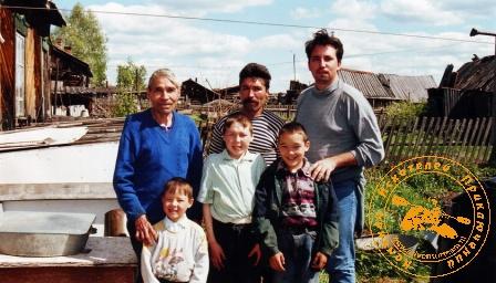 II мансийская экспедиция. Мужчины мансийской семьи Хандыбиных
